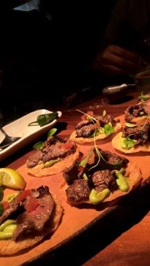 Wagyu Beef Brisket Tacos (Smoked Australian Wagyu Beef, Guacamole, Epic Morita)