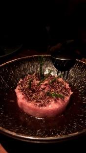 Chu Toro Tartar (Spanish Bluefin Tuna, Yuzu Soy, Crispy Quinoa)