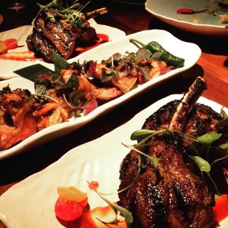 Glazed Baby Chicken & MNKY Lamb Chops